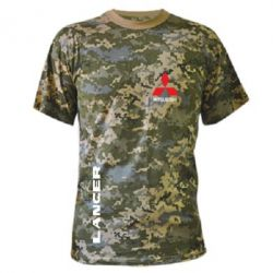 Камуфляжная футболка Mitsubishi Lancer - FatLine