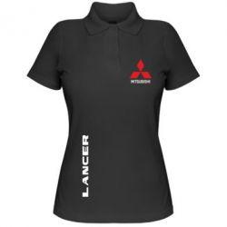 Женская футболка поло Mitsubishi Lancer - FatLine