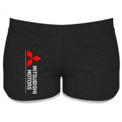 Женские шорты Mitsubishi Motors лого - FatLine