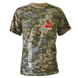 Камуфляжная футболка Mitsubishi Motors logo - FatLine