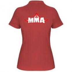Женская футболка поло MMA Pattern - FatLine