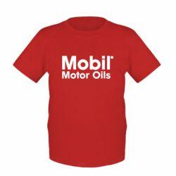 Детская футболка Mobil Motor Oils - FatLine