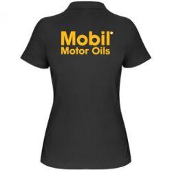Женская футболка поло Mobil Motor Oils - FatLine