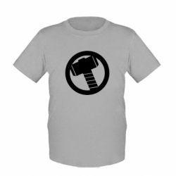 Детская футболка Молот Тора - FatLine
