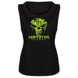 Женская майка Monster Energy Череп - FatLine
