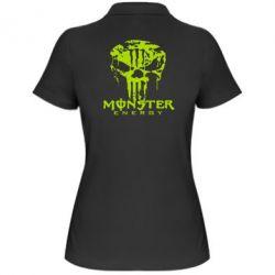 Женская футболка поло Monster Energy Череп - FatLine