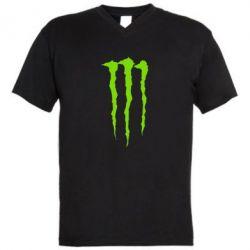 Мужская футболка  с V-образным вырезом Monster Energy Stripes 2 - FatLine