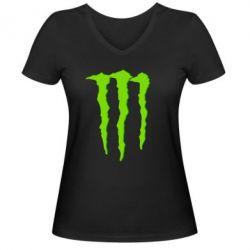 Женская футболка с V-образным вырезом Monster Lines - FatLine