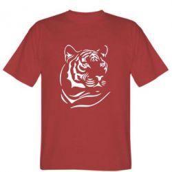 Мужская футболка Морда тигра - FatLine