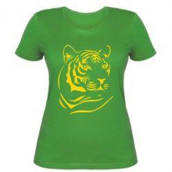 Женская футболка Морда тигра - FatLine