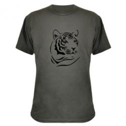 Камуфляжная футболка Морда тигра