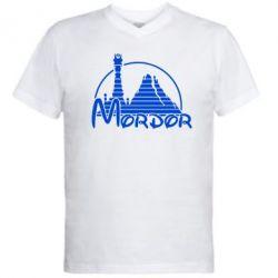 Мужская футболка  с V-образным вырезом Mordor (Властелин Колец) - FatLine