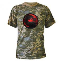 Камуфляжная футболка Mortal Kombat Logo