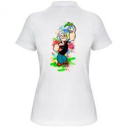 Женская футболка поло Моряк Папай Арт