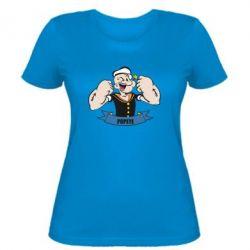 Женская футболка Моряк Папай - FatLine