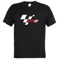 Мужская футболка  с V-образным вырезом MOTO GP - FatLine