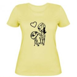 Жіноча футболка MOTO LOVE - FatLine
