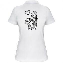 Жіноча футболка поло MOTO LOVE - FatLine