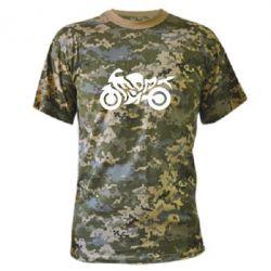 Камуфляжная футболка MOTO SPORT - FatLine