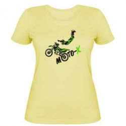 Женская футболка Moto-X - FatLine