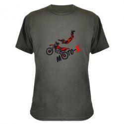 Камуфляжная футболка Moto-X - FatLine