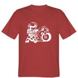 Мужская футболка Мотоциклист - FatLine