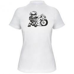 Женская футболка поло Мотоциклист - FatLine