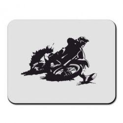 Коврик для мыши Мотокросс лого - FatLine