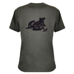 Камуфляжная футболка Мотокросс лого - FatLine
