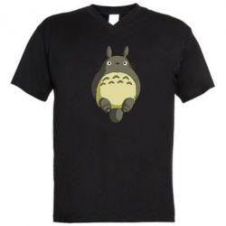 Мужская футболка  с V-образным вырезом Мой сосед Тоторо - FatLine