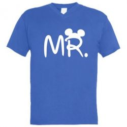 Мужская футболка  с V-образным вырезом Mr. - FatLine