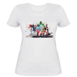 Женская футболка Мстители Арт - FatLine