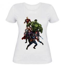 Женская футболка Мстители Фан Арт - FatLine