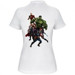 Женская футболка поло Мстители Фан Арт - FatLine