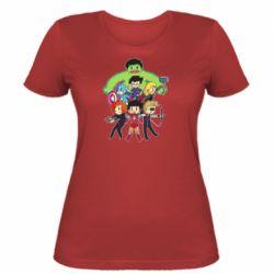 Женская футболка Мститети в сборе