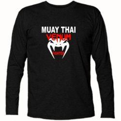 Футболка с длинным рукавом Muay Thai Venum Fighter - FatLine