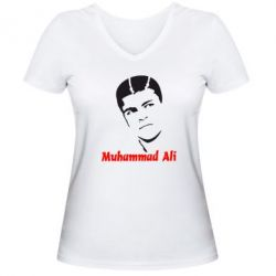 Женская футболка с V-образным вырезом Muhammad Ali - FatLine