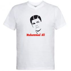 Мужская футболка  с V-образным вырезом Muhammad Ali - FatLine