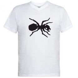 Мужская футболка  с V-образным вырезом Муравей - FatLine