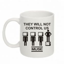 Кружка 320ml MUSE They will not control us - FatLine