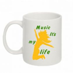 Кружка 320ml Music it's my life