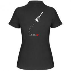 Женская футболка поло Music love - FatLine