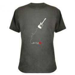 Камуфляжная футболка Music love - FatLine