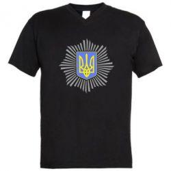 Мужская футболка  с V-образным вырезом МВС України - FatLine