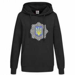 Женская толстовка МВС України - FatLine