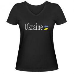 Женская футболка с V-образным вырезом My Ukraine - FatLine
