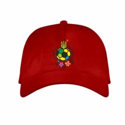Детская кепка Мяч футбольный УКРАИНА цветной