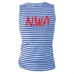 Майка-тельняшка N.W.A Logo - FatLine
