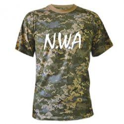 Камуфляжная футболка N.W.A Logo - FatLine