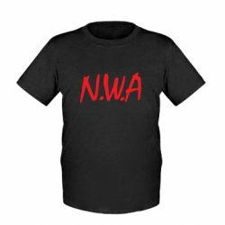 Детская футболка N.W.A Logo - FatLine